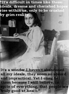 Watching the movie Sarah's Key and reading the book put me in an Anne Frank mood. Here we have Anne Frank at her desk. Non Plus Ultra, We Are The World, Jolie Photo, Women In History, Ww2 History, Jewish History, Interesting History, Good People, Amazing People