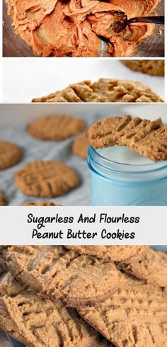 No flour No Sugar Peanut Butter Cookies from Walking on Sunshine Recipes Sugarless Cookies, Flourless Peanut Butter Cookies, Peanut Cookies, Chocolate Sugar Cookies, Cake Mix Cookie Recipes, Delicious Cookie Recipes, Cake Mix Cookies, Yummy Cookies, No Sugar Peanut Butter