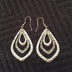 Silver earrings Silver earrings - never worn, too big for me! Jewelry Earrings