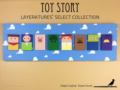 Disney  Pixar Toy Story Layered-Wood by TheCreativeCrowStore