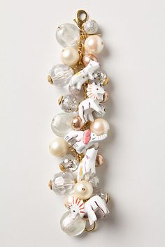 Festive bracelet with painted wooden animals