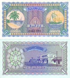 Reproduction Maldives 5 rupees 1947 UNC