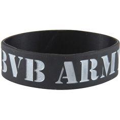 Rokk Bands Black Veil Brides Troops wristband – BVB – band merch UK ($7.05) ❤ liked on Polyvore