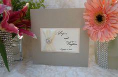 Brooch Wedding Invitation  Bilingual Wedding by WrappedUpInDetails, $8.50