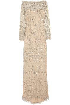 Marchesa | Embellished lace gown  | NET-A-PORTER.COM