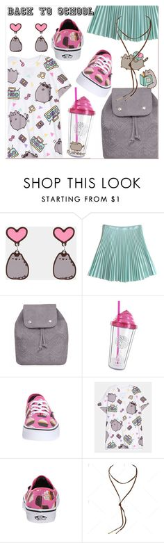 #PVxPusheen by paculi on Polyvore featuring Pusheen, Christopher Kane, contestentry and PVxPusheen