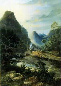 Pararaha Mill, Whatipu, painted by Charles Blomfield (1848–1926)