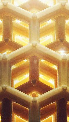 Honey Art Yellow Bee Comb Hive Pattern #iPhone #5s #wallpaper