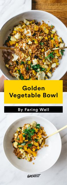 3. Golden Vegetable Bowl #fall #recipes http://greatist.com/eat/fall-recipes-to-take-on-a-picnic