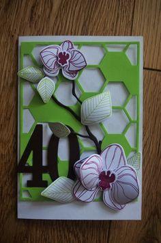 carte anniversaire orchidées stampin'up