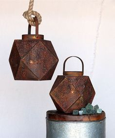 Icosahedron Lantern - Candle Holders - Lanterns, Sconces and Candle Chandeliers
