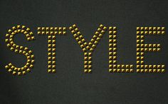 Simple Studded Text Effect