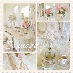 """""""For last year's word belong to last year's languag e And next year's words await another voice. Shabby Chic Plates, Vintage Shabby Chic, Vintage Style, Decoupage Vintage, French Christmas, Christmas Crafts, Romantic Room, Pretty Drawings, Winter Time"""