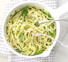 Courgette and lemon linguine