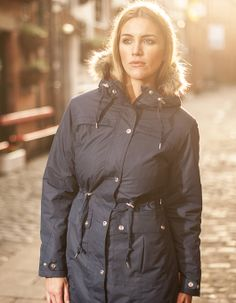 Our Georgia Parka in Indigo. Perfect raincoat for winter | Target Dry http://www.targetdry.com/products/target-dry-georgia-parka-for-women