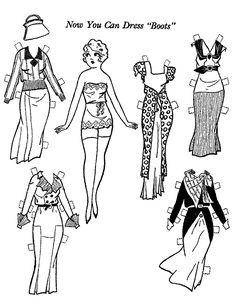 """Mostly Paper Dolls Too!: Now You Can Dress """"BOOTS"""""""