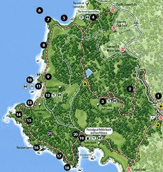 Pebble Beach, CA - Map of the 17-Mile Drive #JetsetterCurator