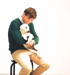 When he cuddled this puppy. | 43 Times Louis Tomlinson Was The Most Perfect And Beautiful Member Of One Direction