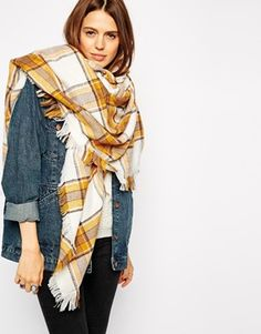 Browse online for the newest ASOS Oversized White Base Tobacco Check Square Scarf styles. Shop easier with ASOS' multiple payments and return options (Ts&Cs apply). Hippie Style, My Style, Fall Outfits, Fashion Outfits, Oversized Scarf, Affordable Clothes, Long Scarf, Square Scarf, Autumn Winter Fashion