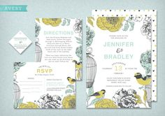 DIY Printable Wedding Invitation Avery  4 pieces by LadyBPaperie, $95.00