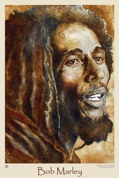 Watercolour of Bob Marley Bob Marley Kunst, Bob Marley Art, Reggae Bob Marley, Reggae Art, Reggae Music, Bob Marley Legend, Bob Marley Pictures, Marley Family, Nesta Marley