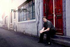 Senior boy photography alley