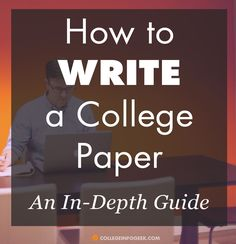 Help with writing paper for college