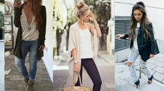 Outfits con Jeans Para la Universidad ♥ Escuela ♥Moda 2016 Spring And Fall, Fall Outfits, Kimono Top, Poses, Chic, Jeans, Instagram, Fashion, Gifs