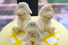 lamb christening cake toppers