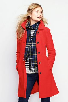 Women's Boiled Wool Walker Coat from Lands' End I don't usually like formal coats, but this one's nice