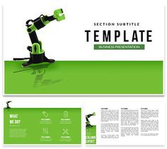 Manufacturing Robots PowerPoint templates