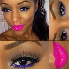 I love these colors on African American women, sooo pretty