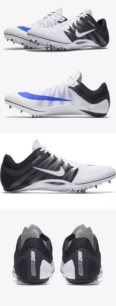 Track and Field 106981: Nike Zoom Ja Fly 2 Running Track Spikes White Blue  Black