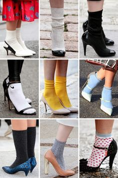 Thestreetfashion5xpro: In the Street...Stiletto+Sock, New York, Milan & Paris