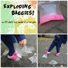 P is for Preschooler: Exploding baggies with baking soda and vinegar