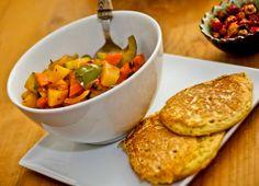 Veggie-Curry mit Kichererbsenküchlein