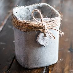 These DIY concrete pots are an easy weekend project. No complicated or expensive molds are necessary, just raid your recycling bin. We used Shapecrete, a mouldable concrete that works up like clay. Rustic herb pots add a bit of bit of charm to your windowsill garden.