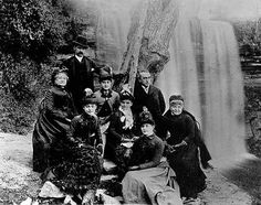 Edwin Booth with his theatrical company at Minnehaha Falls