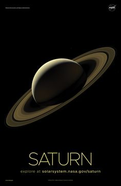 Version A of the Saturn installment of our solar system poster series. Solar System Exploration, Space Solar System, Solar System Poster, Solar System Planets, Our Solar System, Space Exploration, Space Planets, Space And Astronomy, Space Saturn