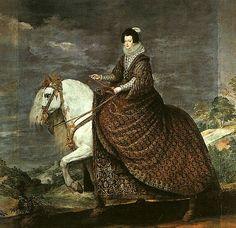 An equestrian portrait of Elisabeth of France (Isabel de Borbón) by Velázquez, 1632