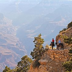 Grand Canyon National Park, Bright Angel Trail -- I hiked this (well, part of this). It was very scary but beautiful!
