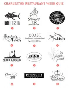 """Charleston Restaurant Week (Jan. 10-20, 2013) -- 140 restaurants are participating in """"this much anticipated annual event [with] ...prix fixe dinner menus for either $ 20, $ 30, or $ 40 (each restaurant is different so please plan accordingly to your budget). Also, we suggest making reservations now since many restaurants will be sold out completely."""" -- Click through to see if you can match the notable menu item with the restaurant offering it!"""