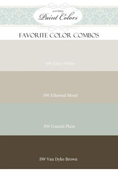 favorite color combos from Sherwin Williams