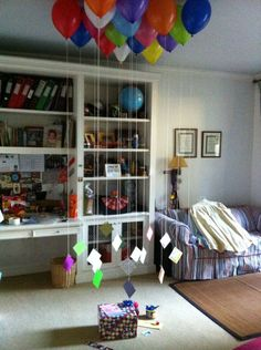 Balloons with one reason you love them for every # of their age! 29th birthday would be 29 balloons with 29 notes