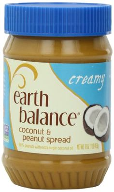 Earth+Balance+Coconut+and+Peanut+Butter+Spread,+Creamy,+16+Ounce+(Pack+of+12)