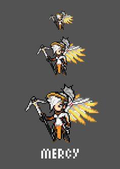 [Pixel Art] - Mercy / Angela Ziegler Overwatch Sprite Twitter:  pic.twitter.com/oFKvdCU5WL