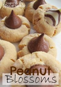 Peanut Blossoms on MyRecipeMagic.com. Nothing better than peanut butter and chocolate!