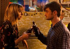 Zoe Kazan as Chantry and Daniel Radcliffe as Wallace in What If