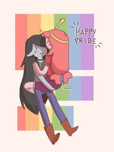 """"""" I missed being bubbline trash so bad pls fill my cold gay heart """" happy pride, everyone! School's finally out – but, my tablet's pen is still missing so until I get one again, I'm stuck with using a mouse. Watch Adventure Time, Adventure Time Marceline, Adventure Time Anime, Adveture Time, Marceline And Princess Bubblegum, Adventure Time Wallpaper, Gay Aesthetic, Queer Art, Lgbt Love"""