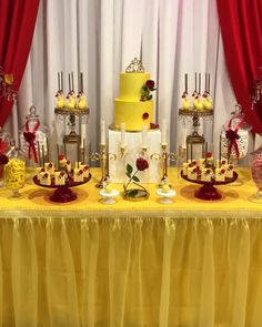 Beauty and The Beast Dessert Table by Rachel Js Special Events - Opulent Treasures - Beauty and The Beast Dessert Table by Rachel Js Special Events Disney's Belle inspired birthday party Beauty And Beast Birthday, Beauty And The Beast Theme, Beauty And Beast Wedding, Hawaiian Party Decorations, Birthday Party Centerpieces, Birthday Parties, Party Favors, Birthday Ideas, Birthday Girl Pictures
